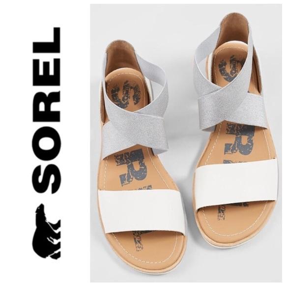 2cc99771fe98ec Sorel  Ella  sandal in white silver 8
